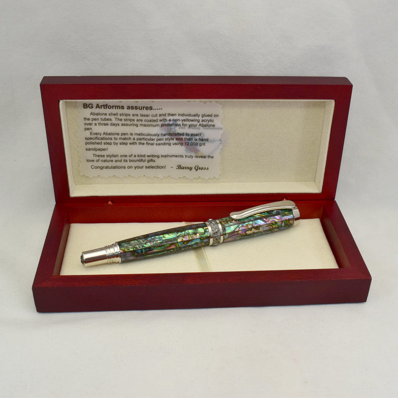 Abalone Green Heart Arcadia Rollerball or Fountain Pen AB23