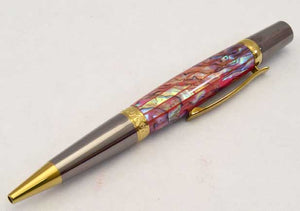 Abalone Red Lipped Elegant Sierra Ballpoint Twist Pen
