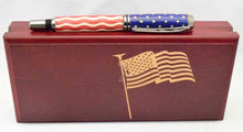 Load image into Gallery viewer, American Flag Chrome Baron Pen