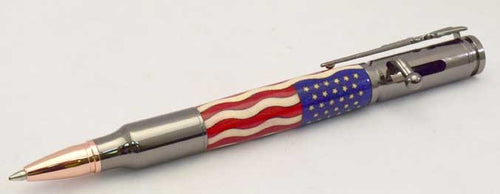 American Flag Bolt Action Click Pen