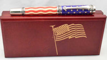 Load image into Gallery viewer, American Flag Black Titanium Majestic Pen