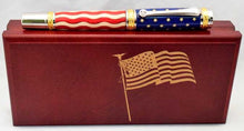 Load image into Gallery viewer, American Flag Gold Titanium Majestic Pen
