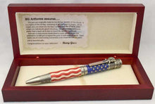 Load image into Gallery viewer, American Flag Antique Pewter Patriot Ballpoint Twist Pen