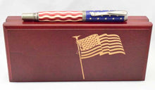 Load image into Gallery viewer, American Flag Antique Nickel Venetian Pen