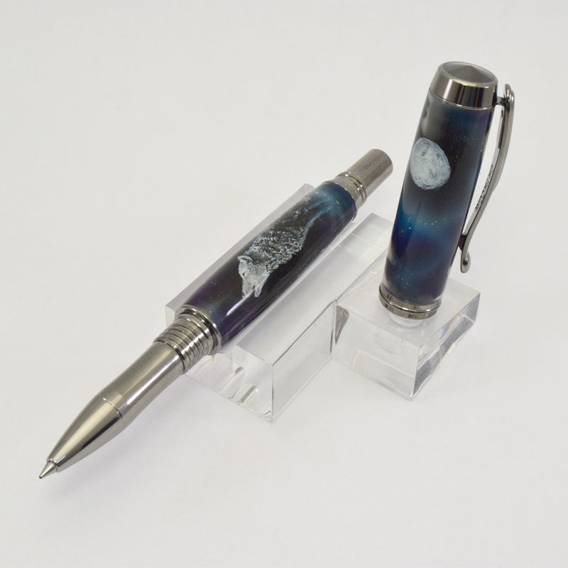 Artist Series - Wolf & Moon Rollerball or Fountain Pen - V.V2