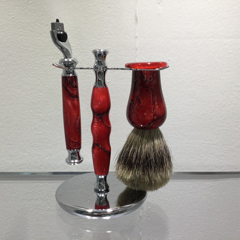 Shaving Set Crimson