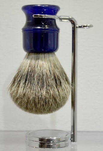 Blue Badger Hair Shaving Brush