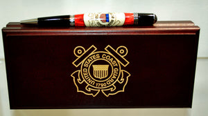 Coast Guard Inlay Ballpoint Twist Pen