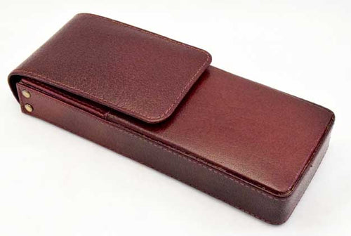3LPH - Three Leather Pen Holder - Oxblood
