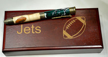 Load image into Gallery viewer, New York Jets Inlay & Acrylic Football Ballpoint Twist Pen