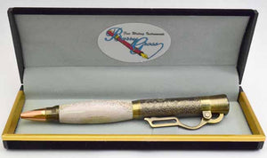 Deer Antler Lever Action Antique Brass Ball Point Pen