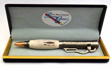 Load image into Gallery viewer, Deer Antler Lever Action Antique Nickel Ball Point Pen