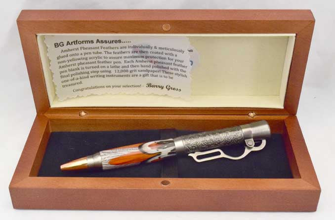 Amherst Feather Lever Action Click Pen - FA5