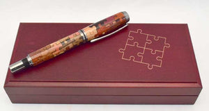 Inlay Puzzle Baron Rollerball or Fountain Pen