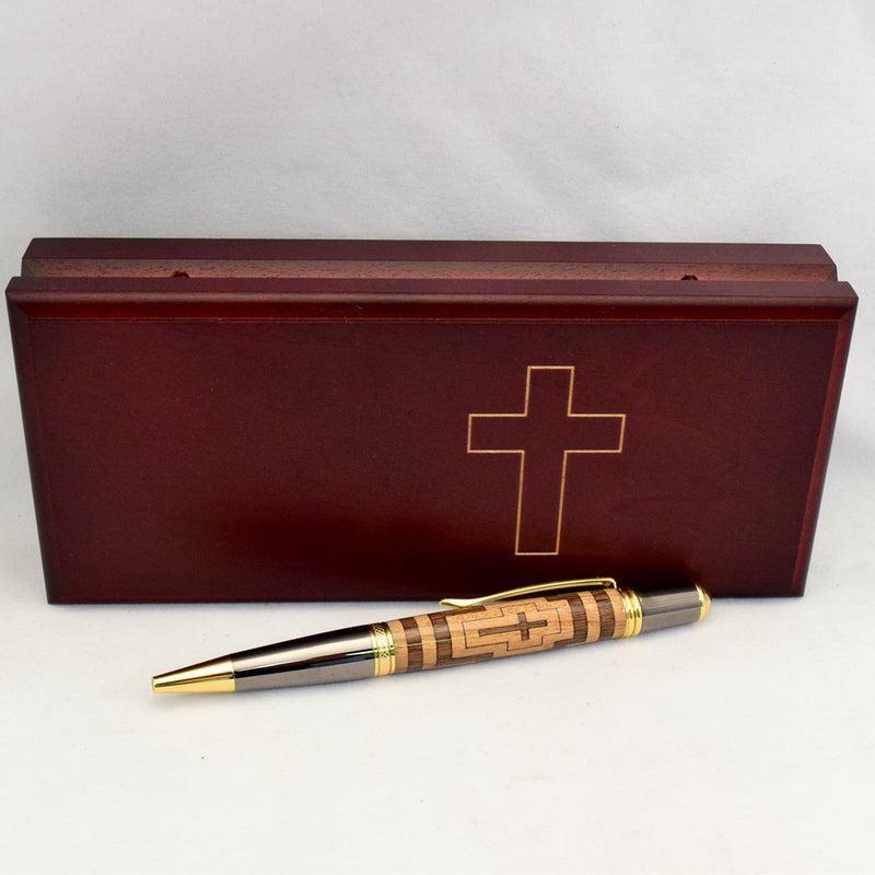 Inlay Segmented Cross Sahara Ballpoint Twist Pen