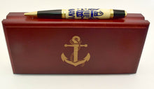 Load image into Gallery viewer, Navy Inlay Ballpoint Twist Pen
