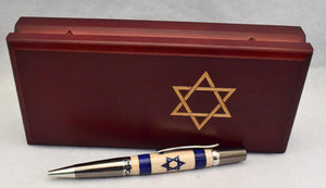 Inlay Israel Flag Ball Point
