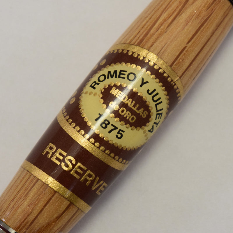 Whiskey Barrel Romeo & Julieta Cigar Band© Venetian Rollerball or Fountain Pen