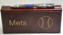 Load image into Gallery viewer, New York Mets Acrylic Baseball Click Ballpoint Pen