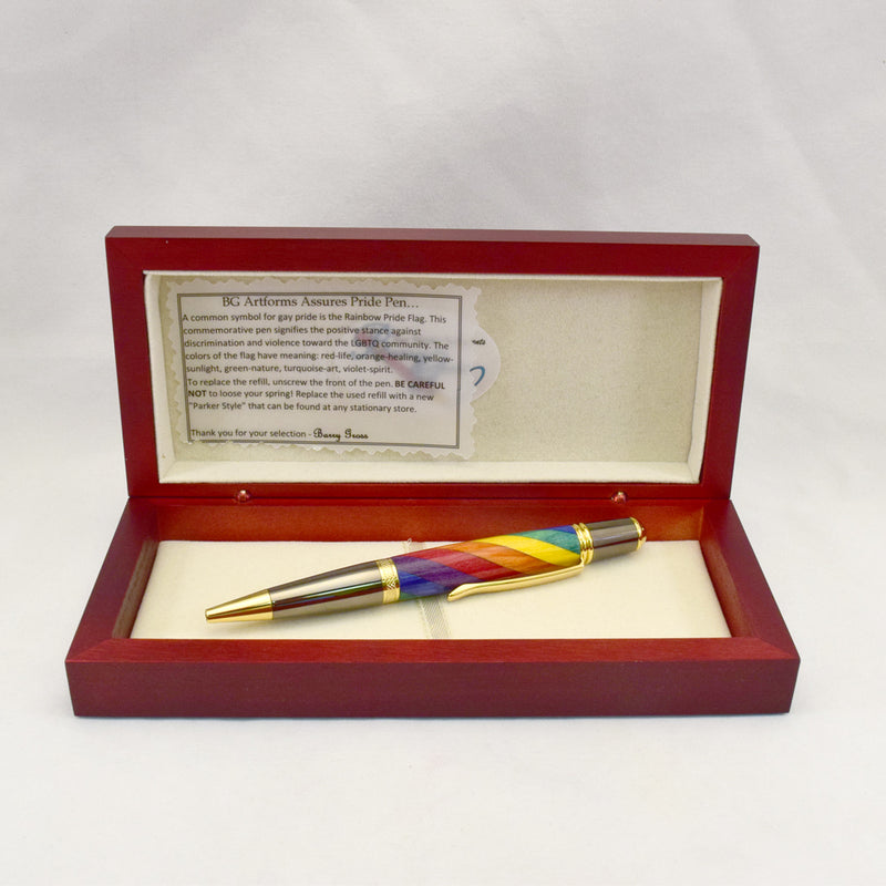 Inlay Rainbow Pride Ballpoint Twist Pen