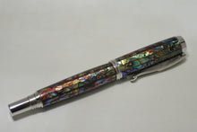 Load image into Gallery viewer, Abalone Red Lipped Venetian Rollerball or Fountain Pen
