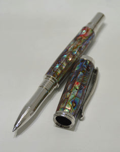 Abalone Red Lipped Venetian Rollerball or Fountain Pen