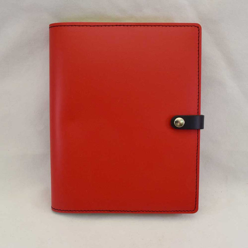 Red Leather Snap Journal