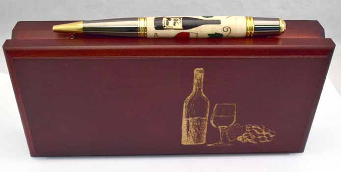 Inlay Wine Lovers  Ballpoint Twist Pen