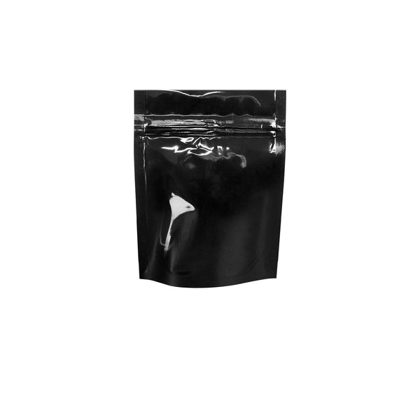 1 Gram Black Tear Notch Mylar Bags 1000 COUNT at Flower Power Packages