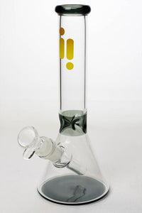 "10"" Infyniti color accented beaker glass water bong Flower Power Packages Smoke"