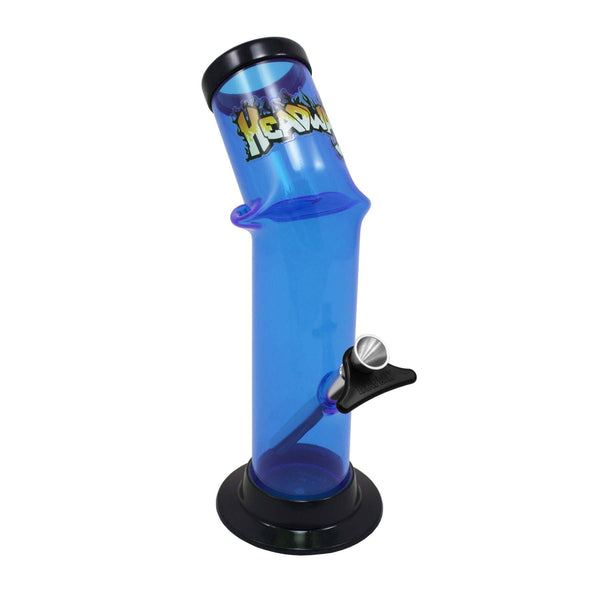 "10"" lazy boy bent pipe Flower Power Packages Blue"