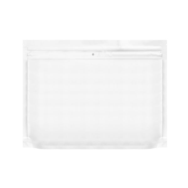 "12"" x 9"" Dymapak Large Child Resistant Exit Bags All White - 500 Count Flower Power Packages"