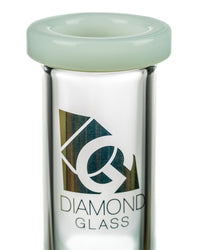 "Diamond Glass 13"" Classic Straight Tube at Flower Power Packages"