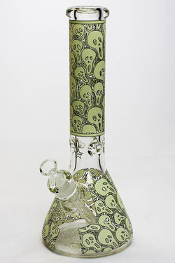 "13.5"" Glow in the dark 9 mm Scream Glass water bong"