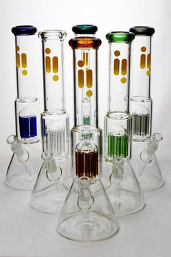 "16"" Infyniti 7 mm thickness single 8-arm glass water bong"