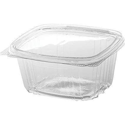 16 Oz Clear Hinged Containers (200 Count) Flower Power Packages
