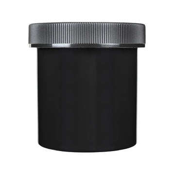 16oz Child Resistant Plastic Jar Black  48 COUNT
