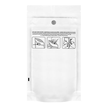 1/8 Ounce Dymapak Child Resistant Bags All White 1000 Count