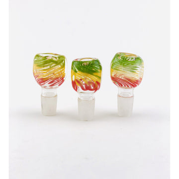 18mm Square Body Rasta Color Bowls