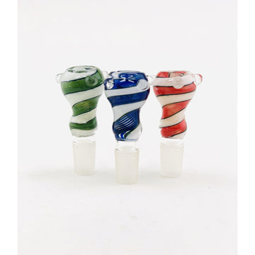 18mm Swirl Color Funnel Bowls