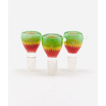 18mm Wavy Rasta Colors Bowls