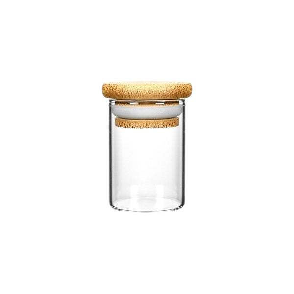 1oz Wood Lid Suction Glass Jars - 1 Gram 200 Count at Flower Power Packages