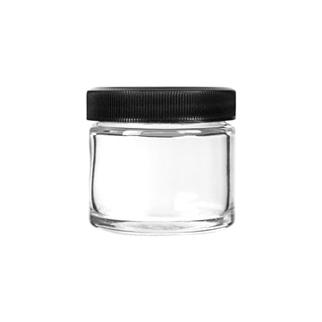 2oz Glass Jars with Black Caps - 3.5 Grams - 200 Count