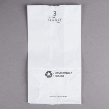 #3 White Paper Bag - 3 Pound (500 Count)