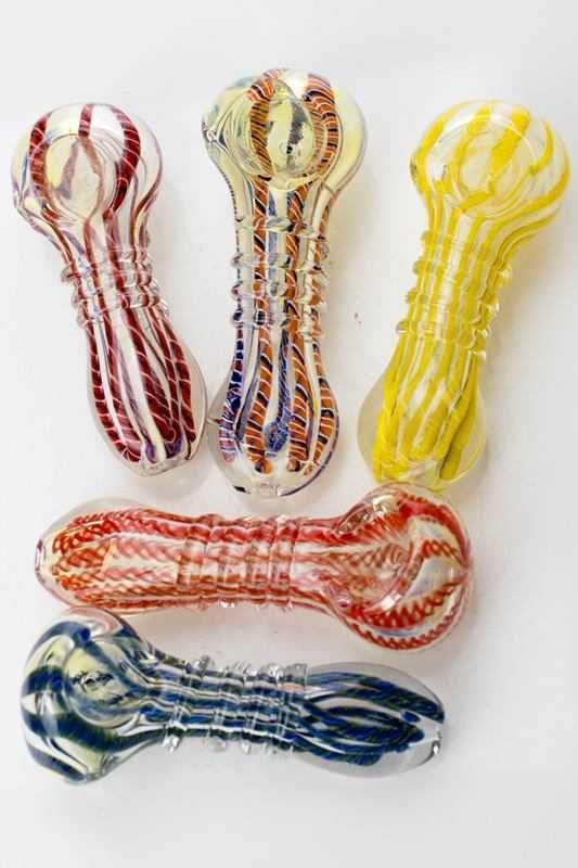 "3.5"" soft glass hand pipe at Flower Power Packages"