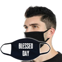 3ply Cotton Face Mask - Blessed Day at Flower Power Packages