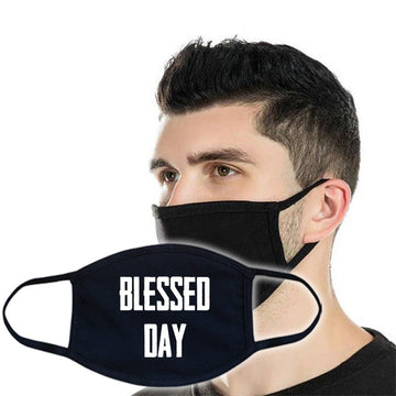 3ply Cotton Face Mask - Blessed Day