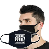 3ply Cotton Face Mask - Straight Outta Quarantine Flower Power Packages