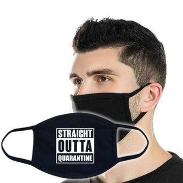 3ply Cotton Face Mask - Straight Outta Quarantine