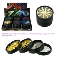 4 Piece Lightning Tobacco Herb Grinder Aluminum 60mm (6 Count) at Flower Power Packages